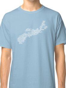 Nova Scotia Word Art Classic T-Shirt