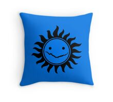 Superwholock - Blue Throw Pillow