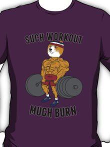 Such Workout, Much Burn Doge T-Shirt