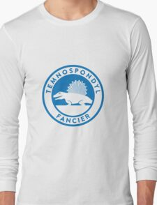 Temnospondyl Fancier Tee (Blue on White) Long Sleeve T-Shirt