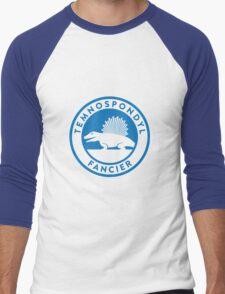 Temnospondyl Fancier Tee (Blue on White) Men's Baseball ¾ T-Shirt