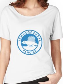 Temnospondyl Fancier Tee (Blue on White) Women's Relaxed Fit T-Shirt