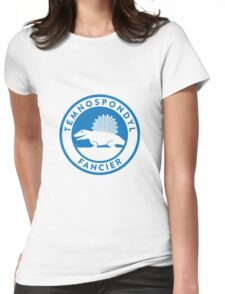 Temnospondyl Fancier Tee (Blue on White) Womens Fitted T-Shirt