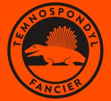 Temnospondyl Fancier Tee (Black on Light) Kids Tee
