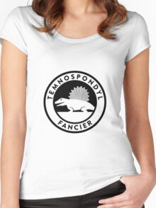 Temnospondyl Fancier Tee (Black on Light) Women's Fitted Scoop T-Shirt
