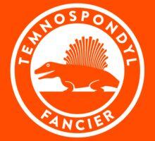 Temnospondyl Fancier Tee (White on dark) Kids Tee