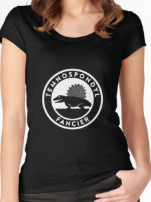 Temnospondyl Fancier Tee (White on dark) Women's Fitted Scoop T-Shirt