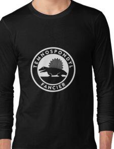 Temnospondyl Fancier Tee (White on dark) Long Sleeve T-Shirt
