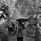 b/w at William Ricketts Sanctuary, Dandenongs by gaylene