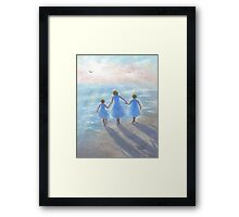 IMAGINE THREE BEACH SISTERS Framed Print