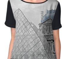 Blue Louvre Chiffon Top