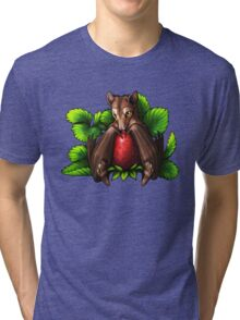 Strawberry Bat Tri-blend T-Shirt