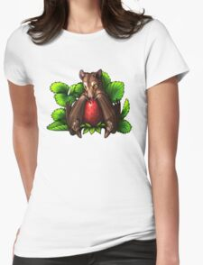 Strawberry Bat Womens Fitted T-Shirt