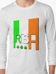 IRISH FLAG, GAEILGE, Ireland. Long Sleeve T-Shirt