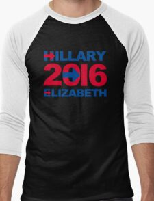 Hillary / Elizabeth 2016 Men's Baseball ¾ T-Shirt