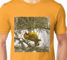 Vitelline Masked Weaver (Ploceus vitellinus) Building a Nest Unisex T-Shirt