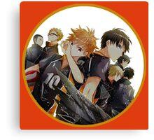 Hinata And Friends Haikyuu!! Anime Canvas Print