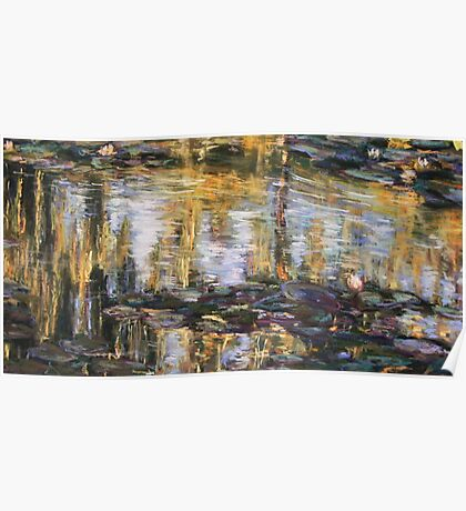 Willow reflections, Monets Garden, Giverny Poster