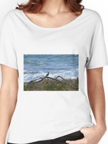 Bird at the Beach Women's Relaxed Fit T-Shirt