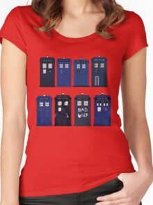Doctor Who - The TARDIS Women's Fitted Scoop T-Shirt