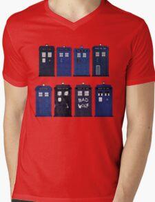 Doctor Who - The TARDIS Mens V-Neck T-Shirt