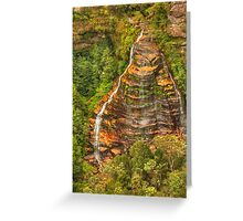 Bridal Veil Falls ... from the top Greeting Card
