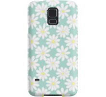 Bright Happy Daisies on Mint Samsung Galaxy Case/Skin
