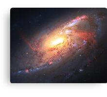 Amazing Spiral Galazy [Messier 106]   Fresh Universe Canvas Print