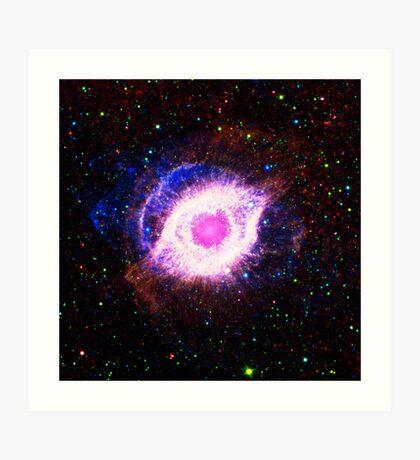 Helix Nebula Triangle | Fresh Universe Art Print