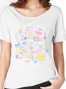 Pastel Sweeties Women's Relaxed Fit T-Shirt