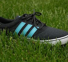 Adidas Charcoal Blue Shoe by Grace314