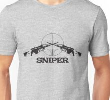 Sniper scope rifles crossed Unisex T-Shirt