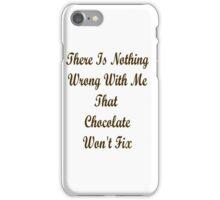 chocolate cure iPhone Case/Skin