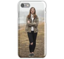 Portrait of a happy  woman  iPhone Case/Skin
