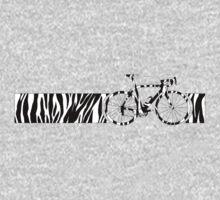 Bike Stripes Zebra (Black & White) Baby Tee