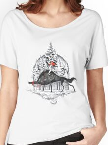 Winter with wolfs Women's Relaxed Fit T-Shirt