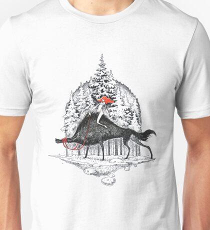 Winter with wolfs Unisex T-Shirt