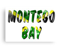 Montego Bay Word With Flag Texture Canvas Print