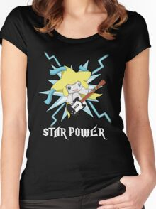 Star-Power Jirachi! Women's Fitted Scoop T-Shirt