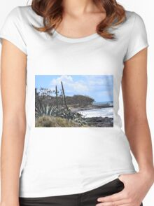 Coastal Plants and Foliage Women's Fitted Scoop T-Shirt