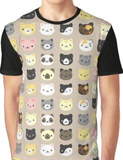 Lovely Cats Graphic T-Shirt