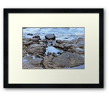 Water Pool at the Beach Framed Print