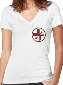 star wars- medical symbol Women's Fitted V-Neck T-Shirt