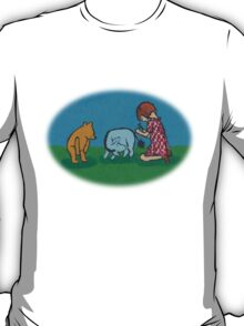 Eeyore loses a tail round T-Shirt