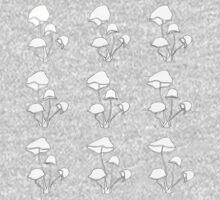 BW Mushrooms Kids Clothes