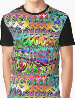 Abstract Layers of Color Graphic T-Shirt