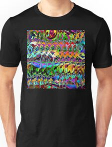 Abstract Layers of Color Unisex T-Shirt