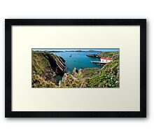 St. Justinian, Wales. Framed Print