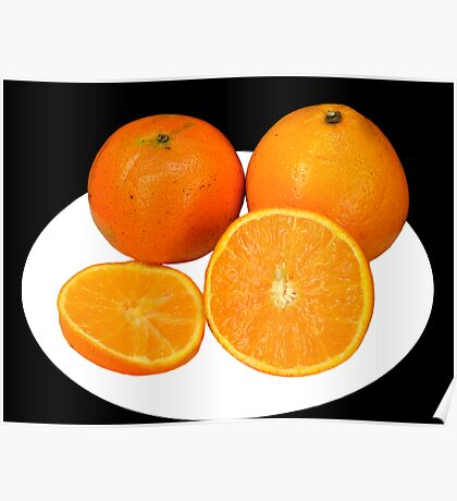 Oranges and slices Poster