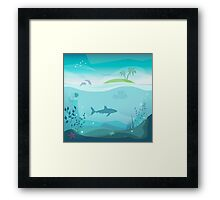 Tropical Sea Natural Landscape Framed Print